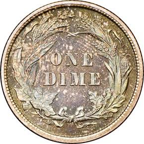 1893 10C PF reverse