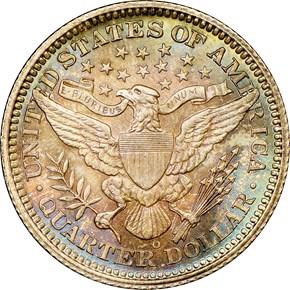 1906 O 25C MS reverse