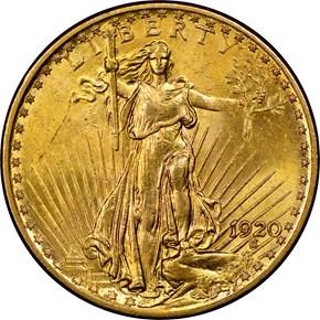 1920 $20 MS obverse