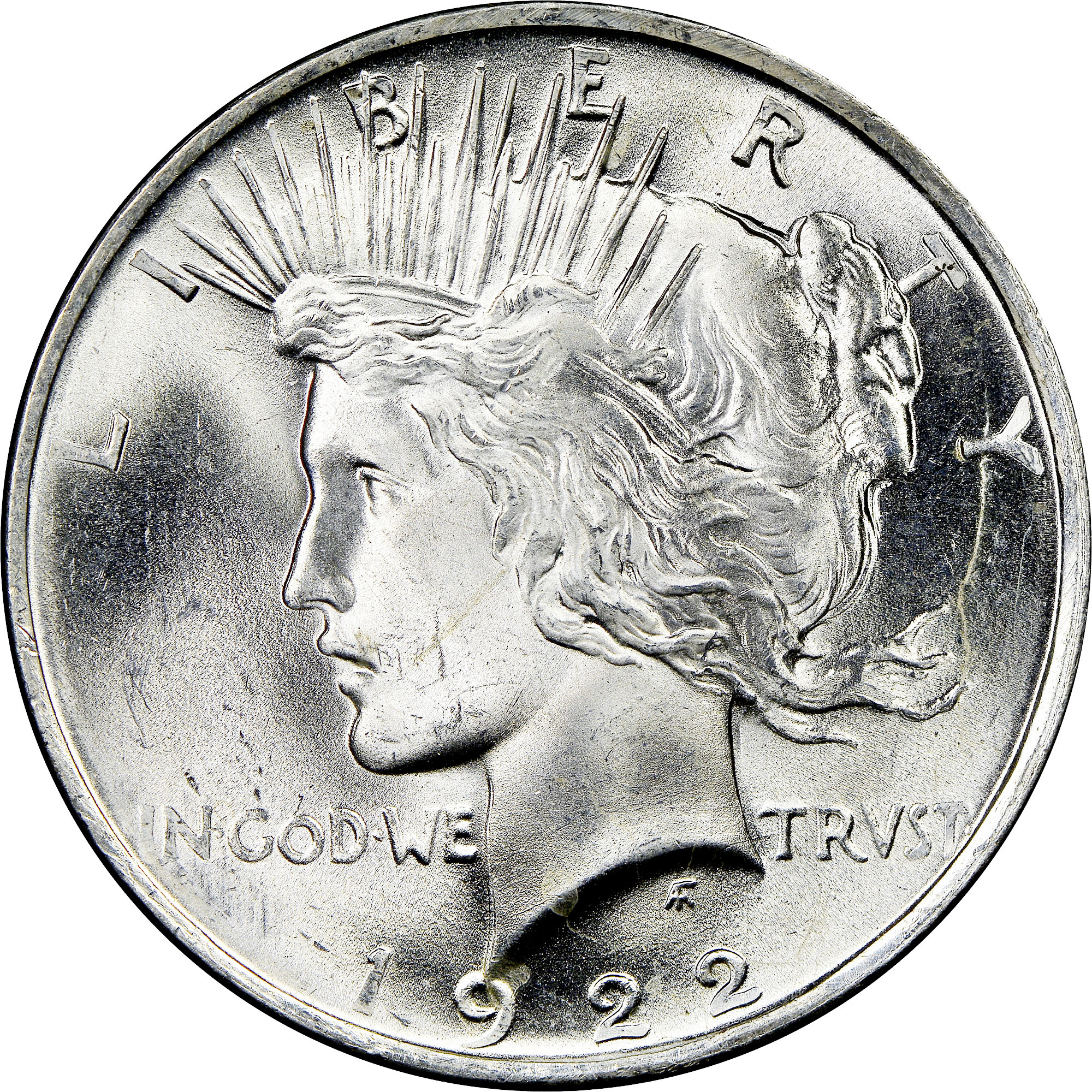 1922 US Peace Silver Dollar $1 NGC MS65