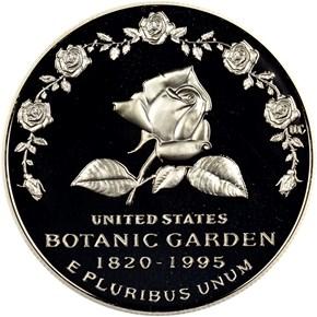 1997 P BOTANIC GARDEN S$1 PF obverse