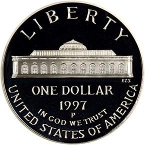 1997 P BOTANIC GARDEN S$1 PF reverse