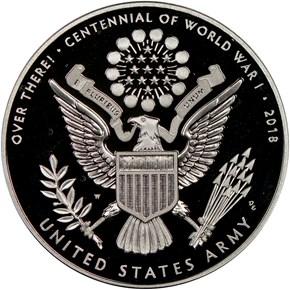 2018 W Silver WWI - U. S. Army MEDAL PF reverse