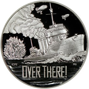 2018 P Silver WWI - U. S. Navy MEDAL PF obverse