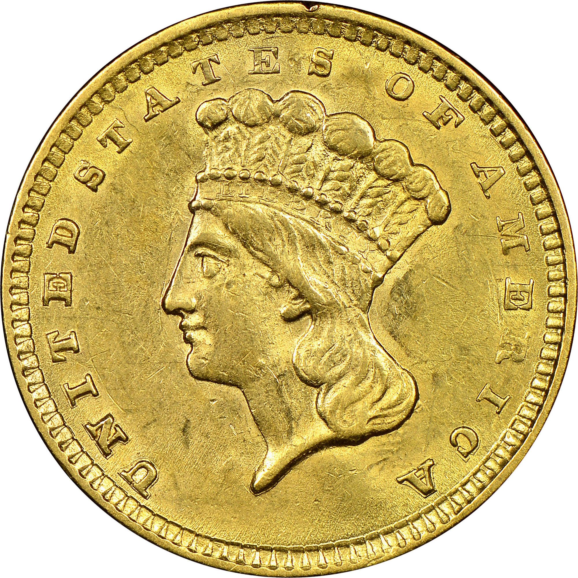 1857 G 1 MS Gold Dollars NGC
