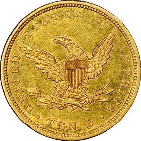 1840 $10 MS reverse
