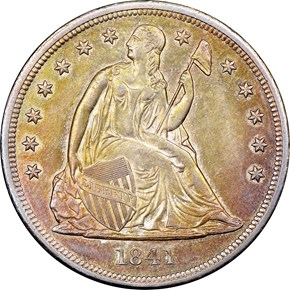 1841 $1 MS obverse