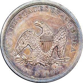 1841 $1 MS reverse