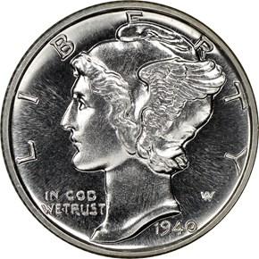 1940 10C PF obverse