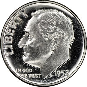 1952 10C PF obverse