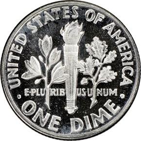 1953 10C PF reverse
