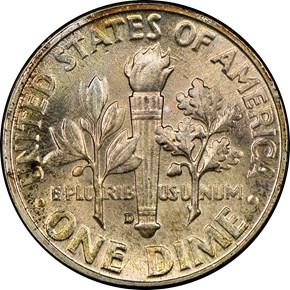 1948 D 10C MS reverse