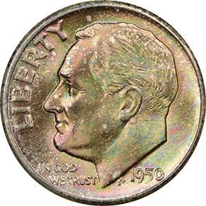 1950 D 10C MS obverse