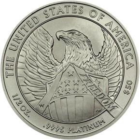 2007 W EAGLE BURNISHED PLATINUM EAGLE P$50 MS reverse