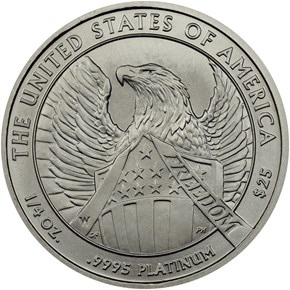 2007 W EAGLE BURNISHED PLATINUM EAGLE P$25 MS reverse