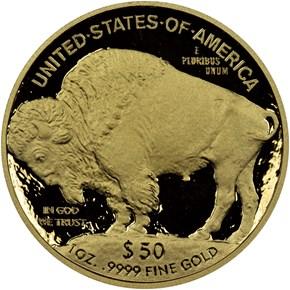 2008 W BUFFALO .9999 FINE G$50 PF reverse
