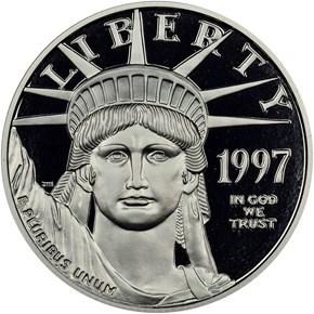 1997 W EAGLE P$50 PF obverse