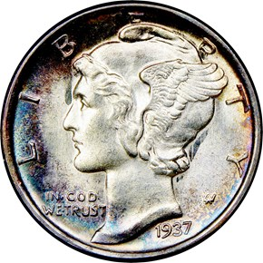 1937 S 10C MS obverse