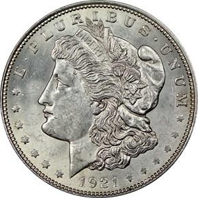 1921 MORGAN $1 MS obverse