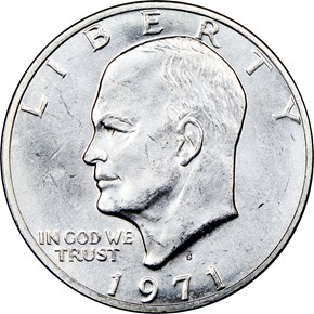 1971 S SILVER $1 MS obverse