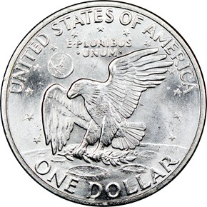 1971 S SILVER $1 MS reverse