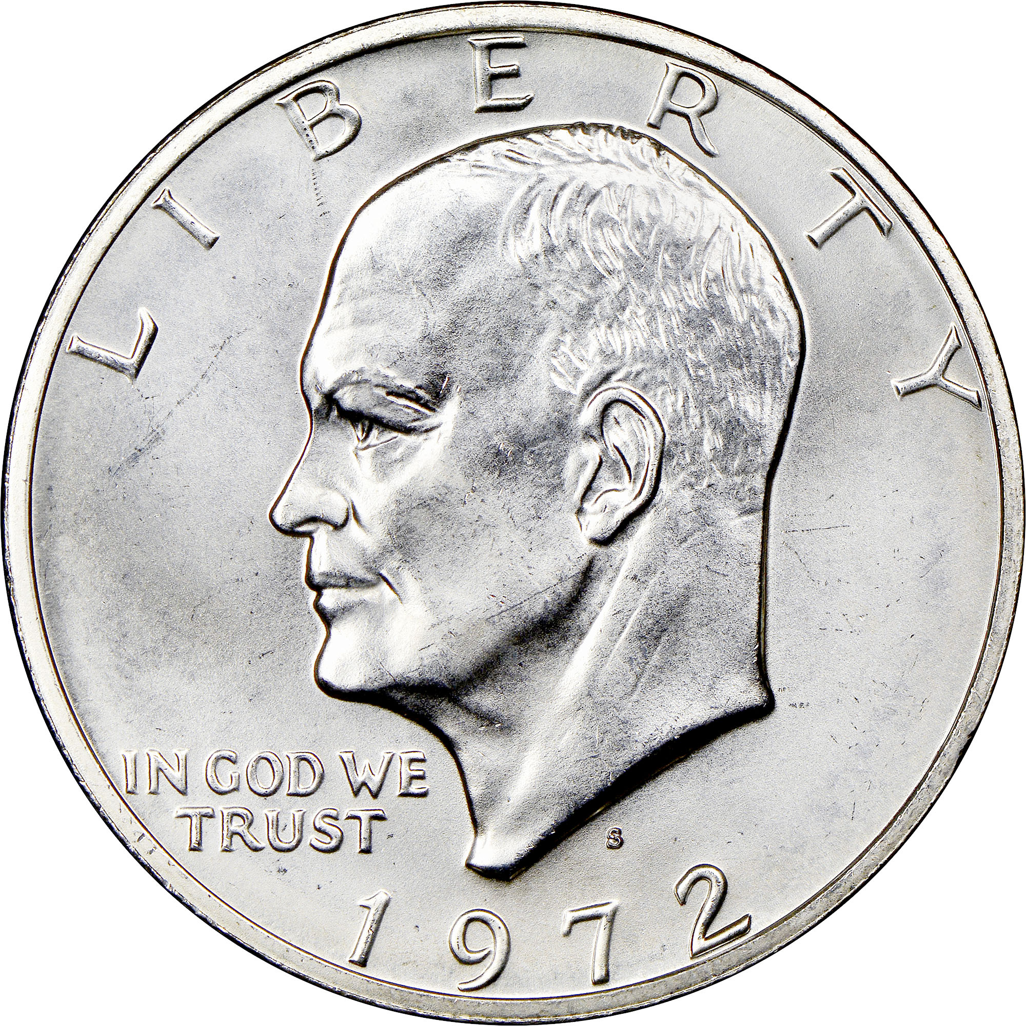 1972 D Eisenhower Dollar $1 NGC MS 66