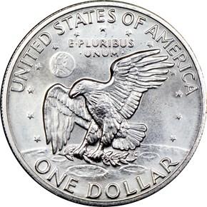 1972 S SILVER $1 MS reverse