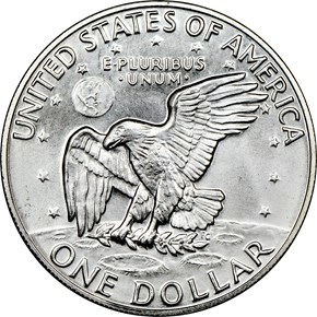 1974 S SILVER $1 MS reverse