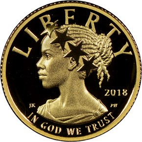2018 W High Relief - .9999 Fine G$10 PF obverse