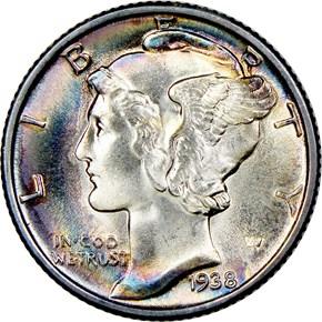 1938 10C MS obverse