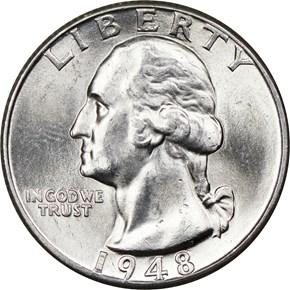 1948 D 25C MS obverse