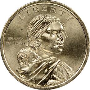 2018 P SACAGAWEA Jim Thorpe $1 MS obverse