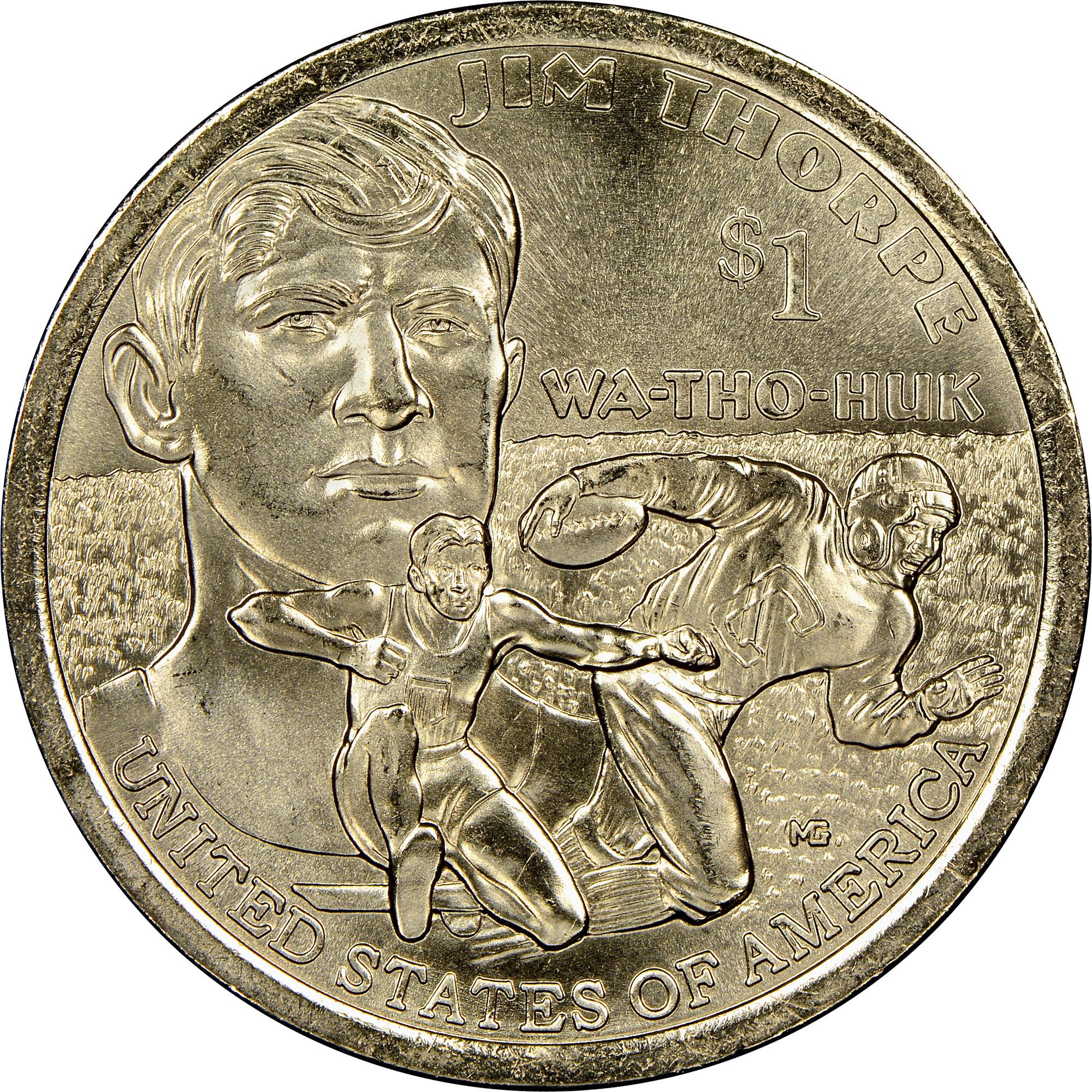 2018 P Native Sacagawea Dollar Jim Thorpe $1 NGC MS67