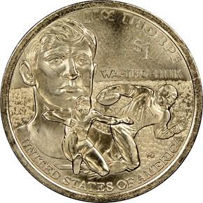 2018 P SACAGAWEA Jim Thorpe $1 MS reverse