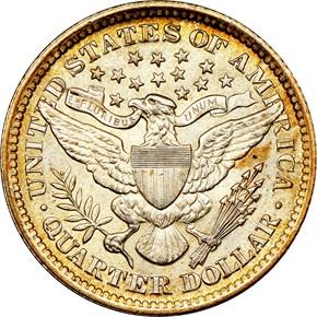 1899 25C MS reverse