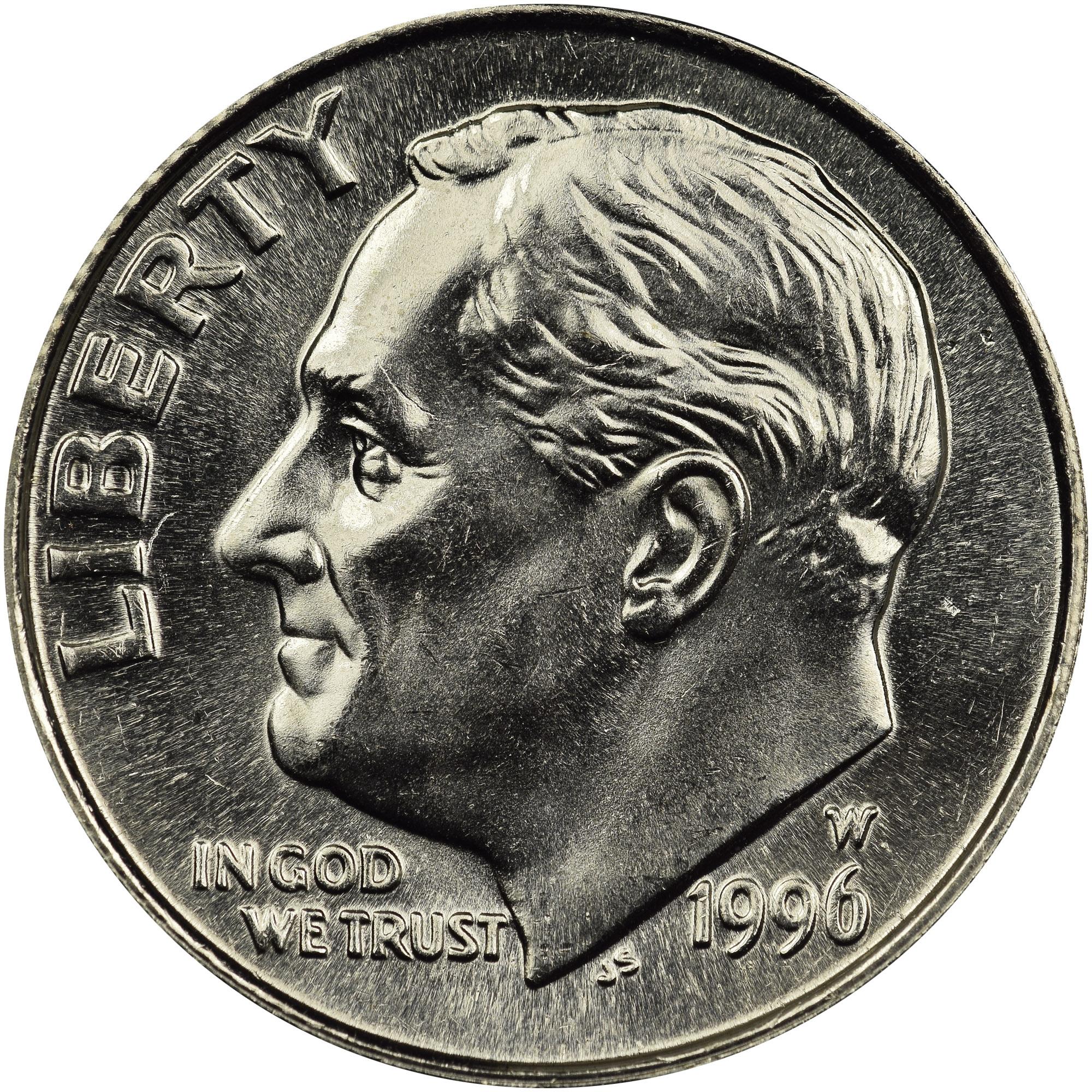1996 W Roosevelt Dime Choice BU West Point Mint US Coin