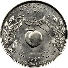 1999 P GEORGIA 25C MS reverse