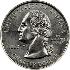 1999 D GEORGIA 25C MS obverse