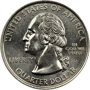 1999 D PENNSYLVANIA 25C MS obverse