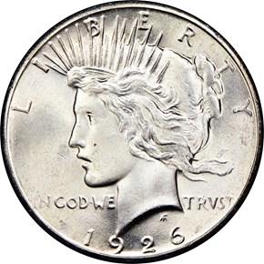 1926 $1 MS obverse