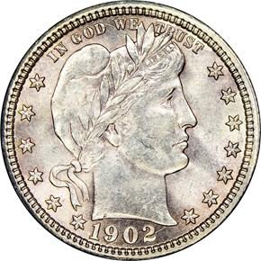 1902 25C MS obverse