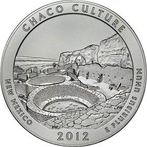 2012 P 5oz SILVER CHACO 25C SP reverse
