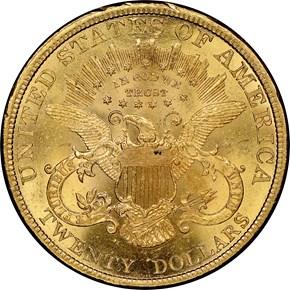 1898 $20 MS reverse