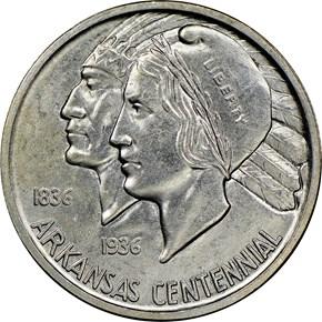 1938 S ARKANSAS 50C MS obverse
