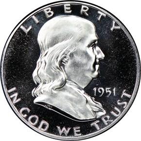 1951 50C PF obverse