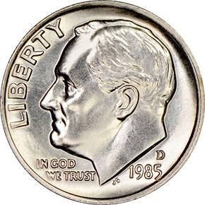 1985 D 10C MS obverse