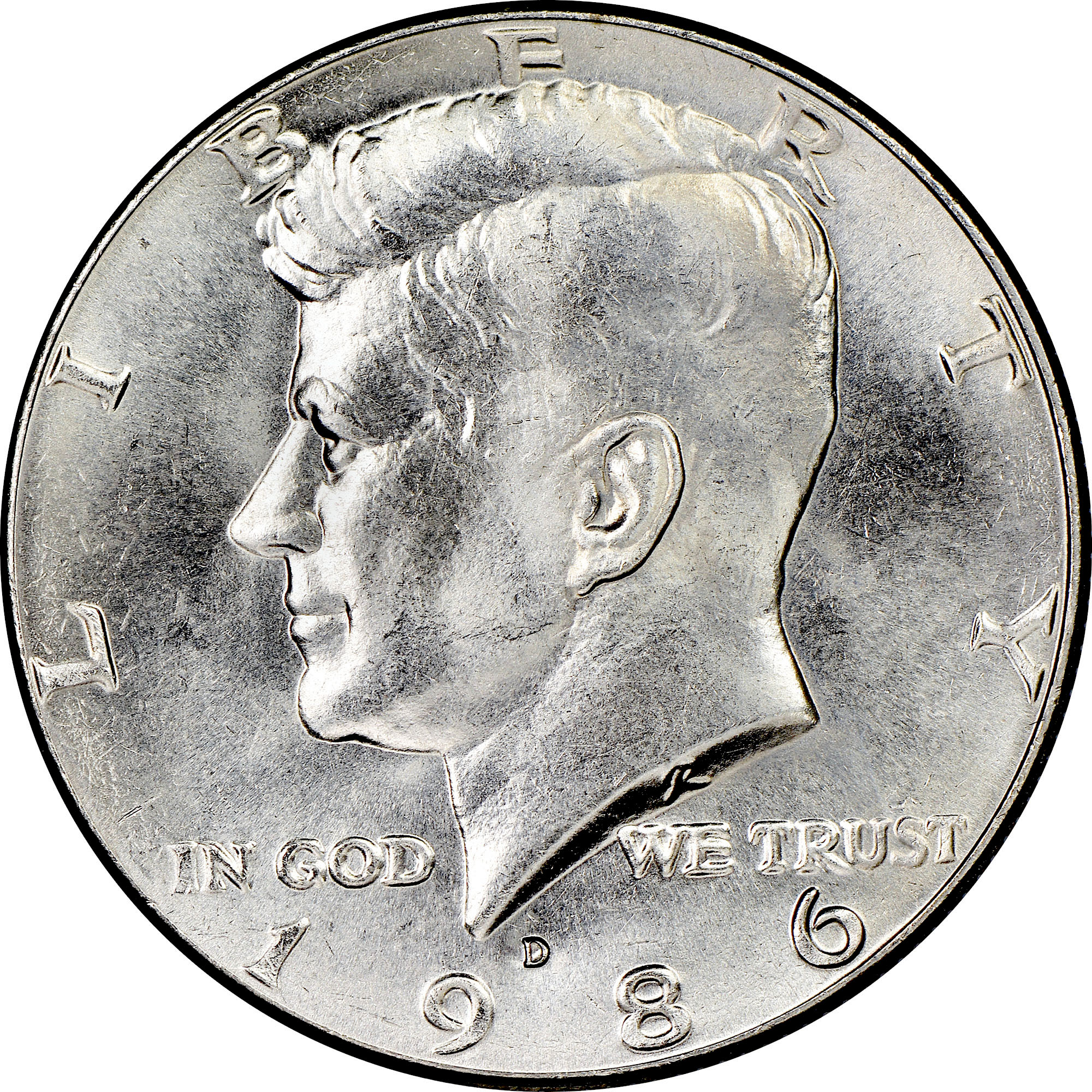 Circulated but Nice ! 1986-D Kennedy Half Dollar