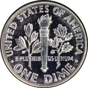 1961 10C PF reverse