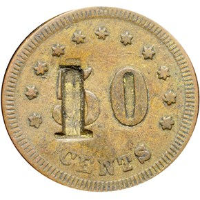 (1861-65) IT S-FS-50B RICE & BYERS SUTLER MS reverse