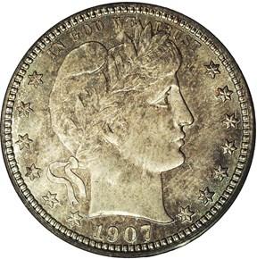 1907 S 25C MS obverse